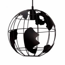 Colgante Mundo 1xe27 Negro 30d